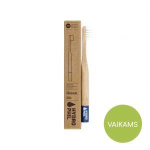 Bambukinis dantų šepetėlis VAIKAMS Hydrophil MĖLYNAS (minkštas)