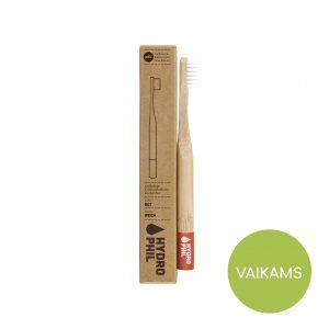 Bambukinis dantų šepetėlis VAIKAMS Hydrophil RAUDONAS (minkštas)