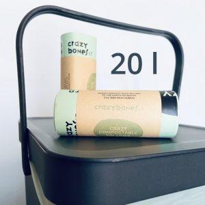 Kompostuojami atliekų maišai 20 l | CRAZYBONES (20 vnt.)