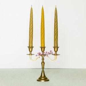 🇱🇹 Vidutės natūralaus vaško žvakė | VAŠKINĖS DRYŽĖS 3 vnt.