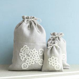 🇱🇹 Lininis daugkartinis maišelis | ONUKO DARBAI (S dydis)