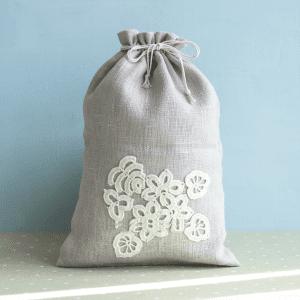 🇱🇹 Lininis daugkartinis maišelis | ONUKO DARBAI (L dydis)