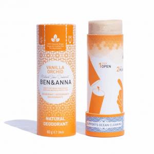 Pieštukinis dezodorantas popierinėje pakuotėje | Ben&Anna (Vanilinė orchidėja)