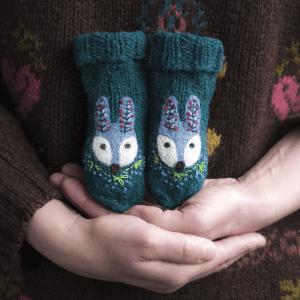 🇱🇹 Eglės vilnonės kojinytės naujagimiams PIŠKIS MIŠKO ŠVENTĖJE