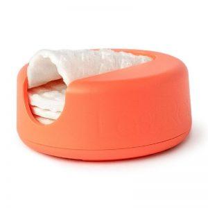 Daugkartiniai padeliai makiažui valyti | LASTROUND (persikinis)
