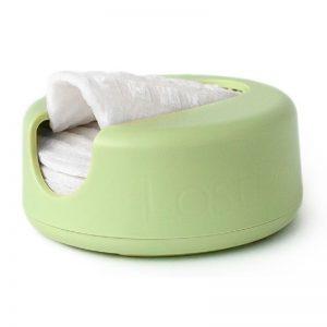 Daugkartiniai padeliai makiažui valyti | LASTROUND (žalias)