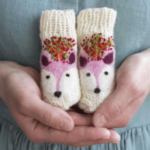 🇱🇹 Eglės vilnonės kojinytės naujagimiams BRIEDIS MIŠKO ŠVENTĖJE